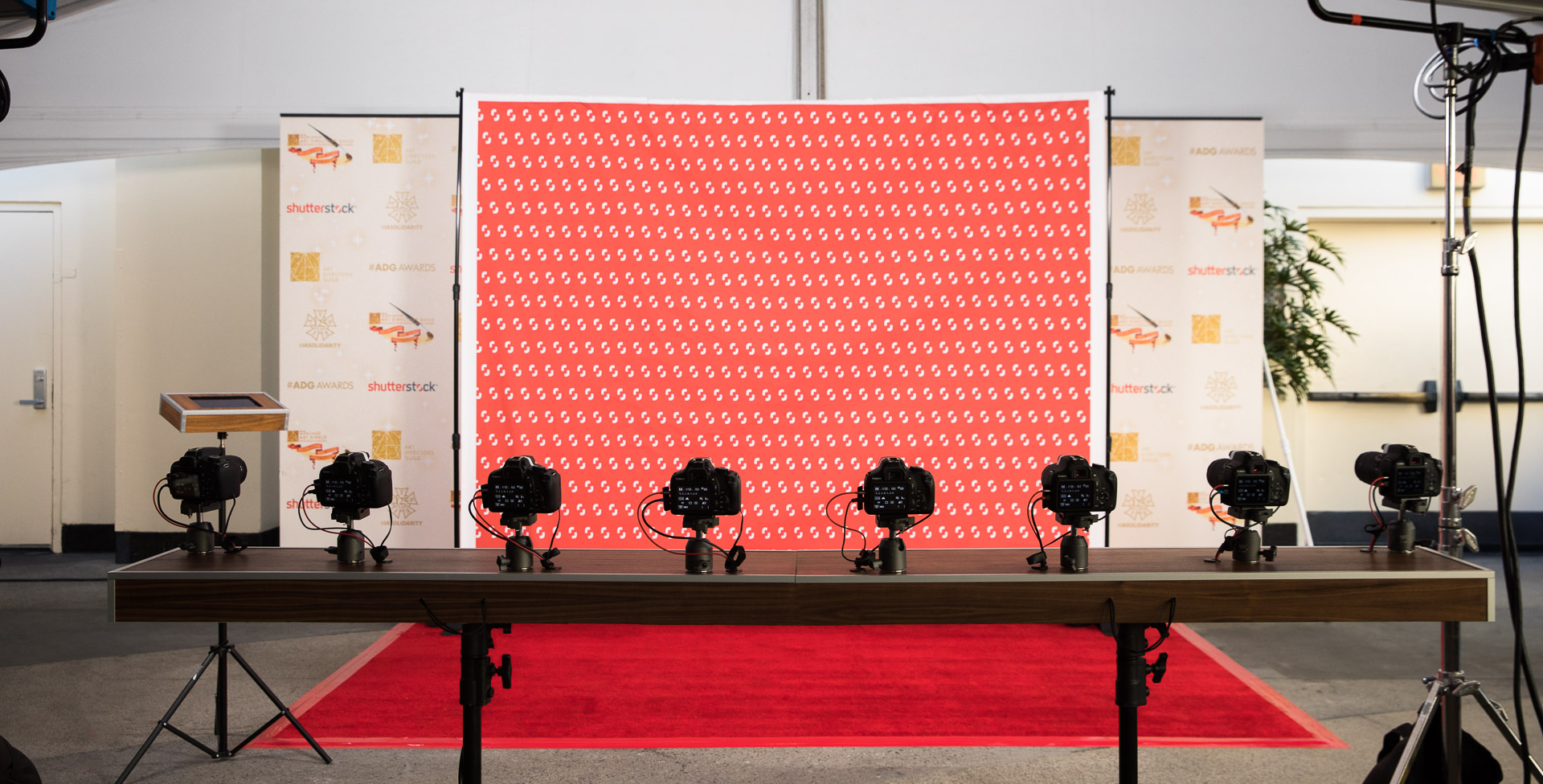 Multi-Camera 3D Photo Booth at the 2018 Art Directors Guild Awards - Shutterstock - Hollywood, Los Angeles