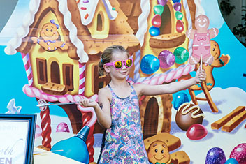 Kids' Birthday Party Photo Booth - Candy Land Themed Birthday Party, Woodland Hills, CA